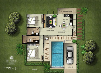 Sivana gardens hua hin villas garden ftempo for Garden ranch ymca pool