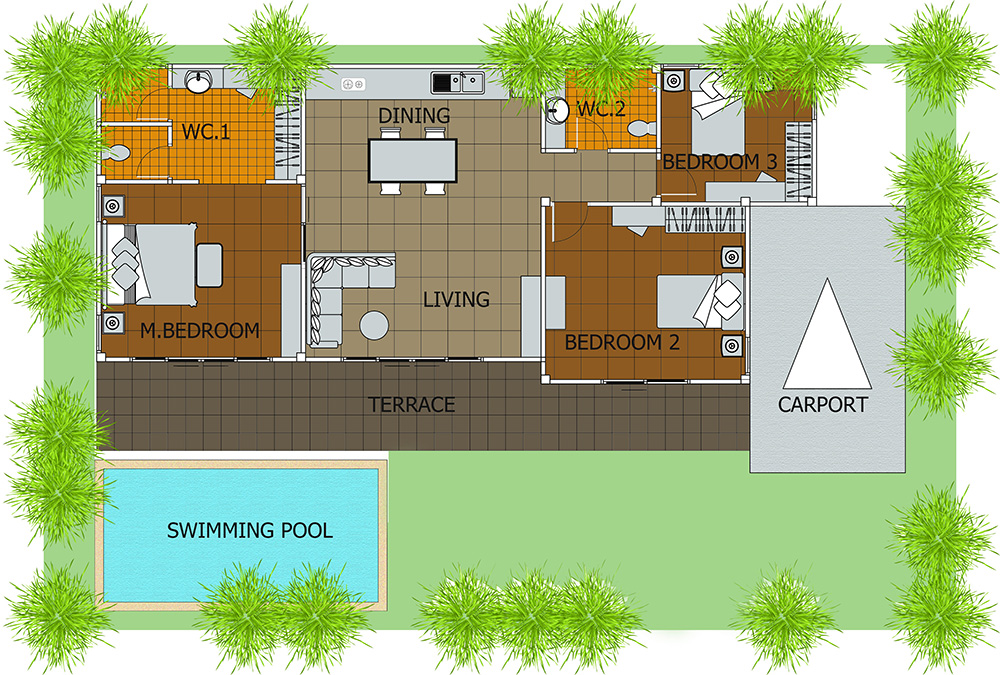 House plans swimming pools for Swimming pool floor plan